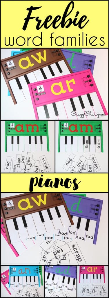 FREE Word Family Pianos