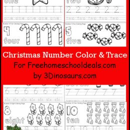 FREE CHRISTMAS NUMBER COLOR AND TRACE PACK (Instant Download)