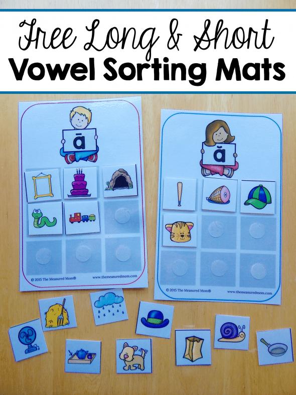 FREE Vowel Sorting Mats
