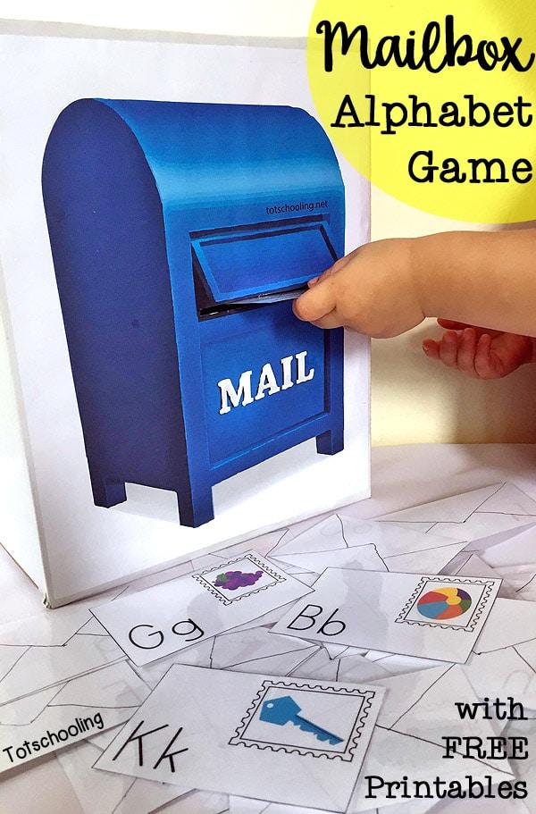 FREE Mailbox Alphabet Games