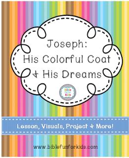 FREE Joseph and His Coat of Dreams Lesson