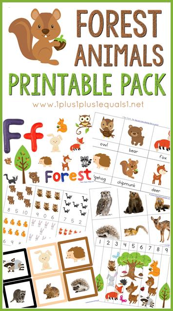 free forest animals printables pack. Black Bedroom Furniture Sets. Home Design Ideas