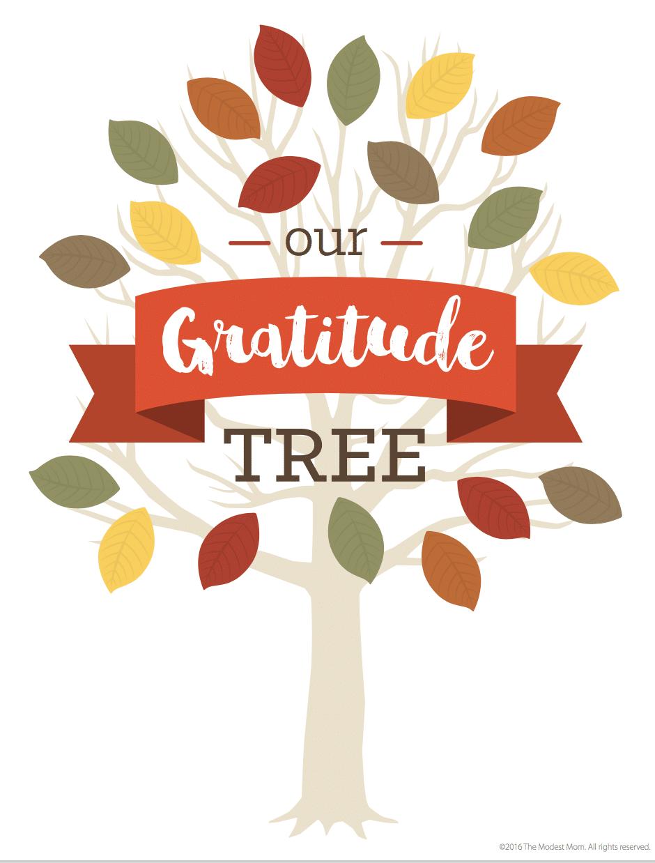 FREE Gratitude Tree