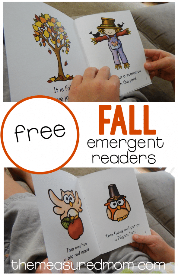 FREE Fall Emergent Reads