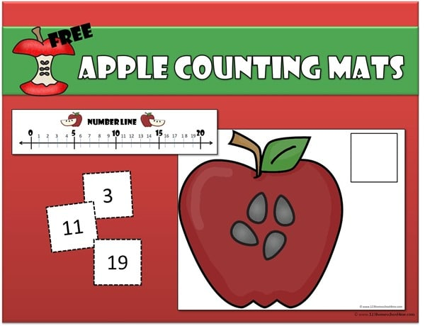 FREE APPLE COUNTING MATS (Instant Download)