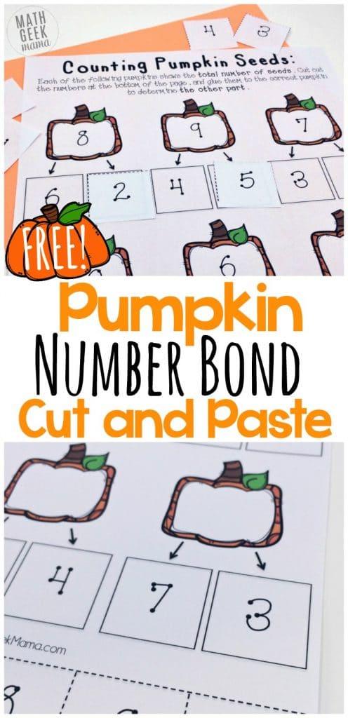 FREE Pumpkin Number Bonds Pack