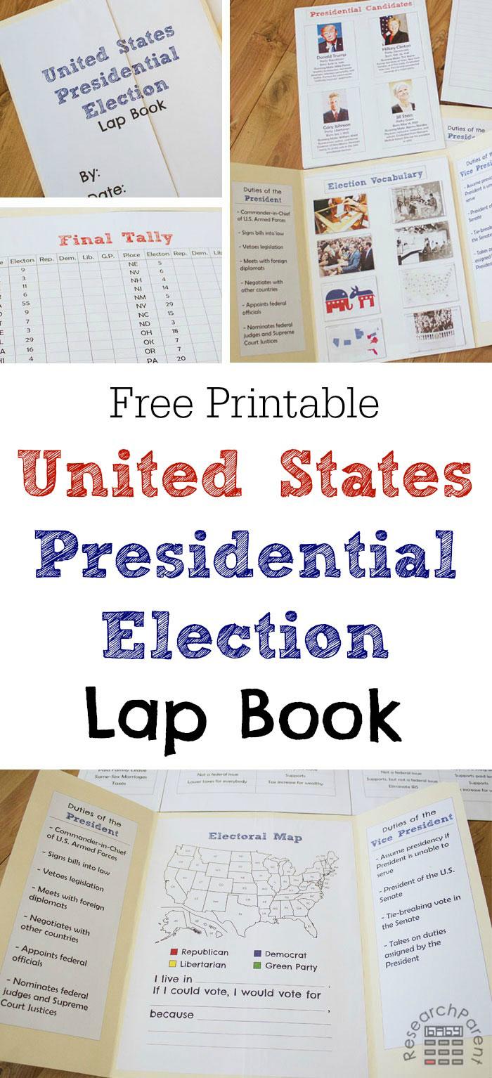 FREE US President Lapbook