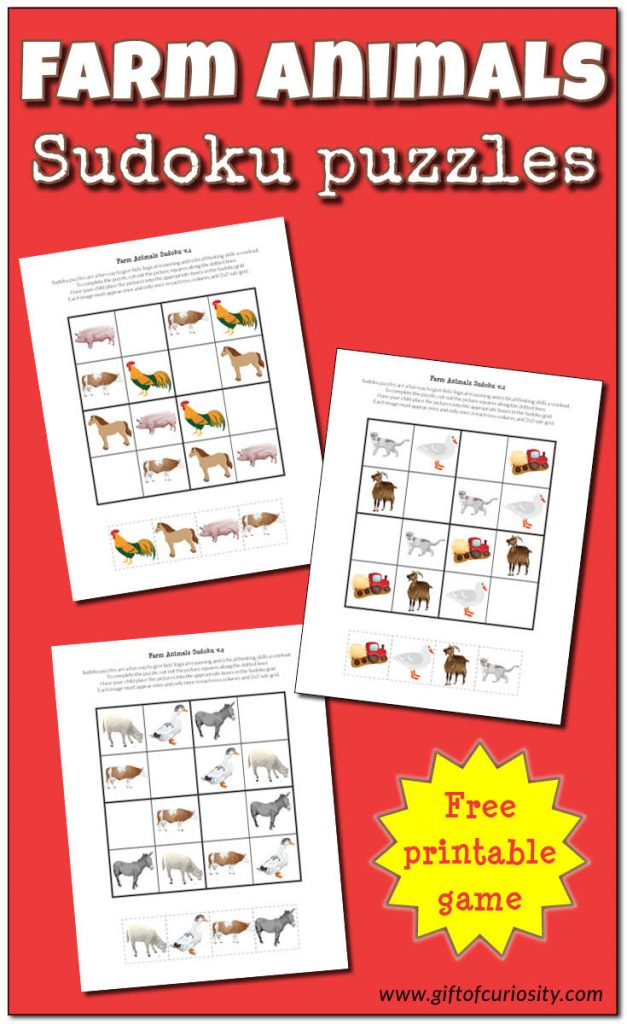 FREE Farm Animals Sudoku Pack