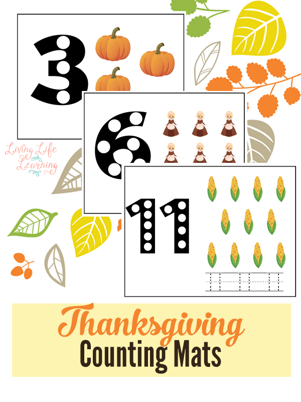 FREE Thanksgiving Counting Mats