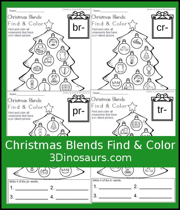 Free Christmas Blends Find & Color Printables