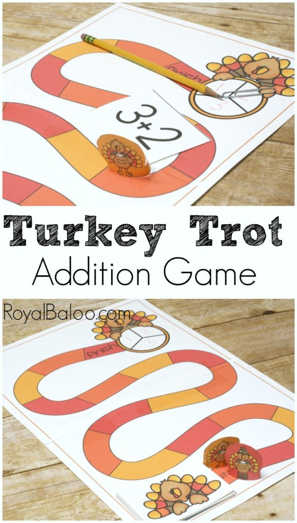 Free Turkey Trot Addition Game