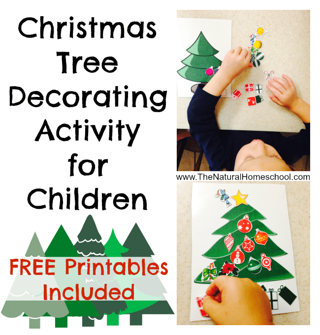Free Christmas Tree Decorating Printable