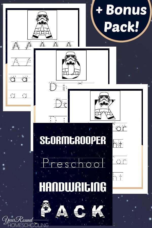 Free Stormtrooper Preschool Handwriting Pack