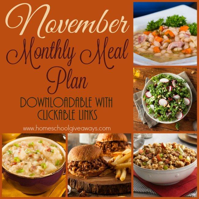 Free November Meal Plan