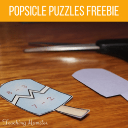 Free Addition & Subtraction Popsicle Puzzles