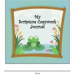 Free Scripture Copywork Journal for Kids