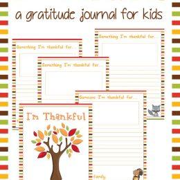 Free Fall Gratitude Journal for Kids