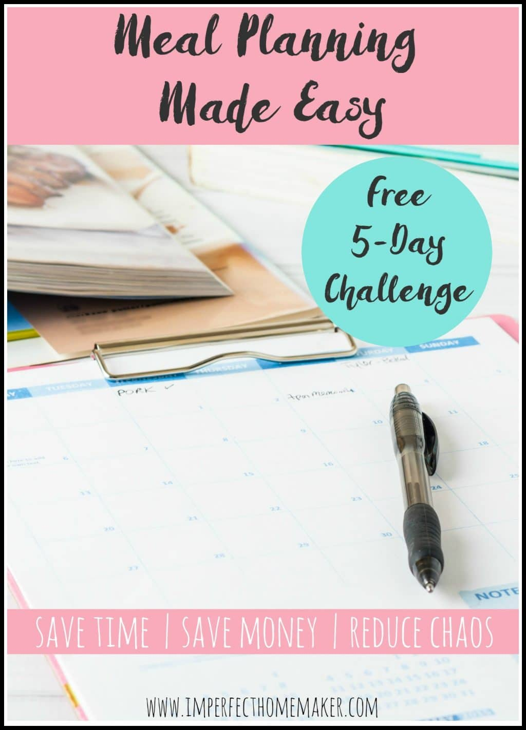Free Meal Planning Made Easy Challenge