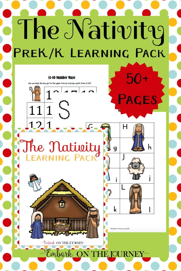 Free Nativity Learning Pack for PreK-K (50 Pages!)