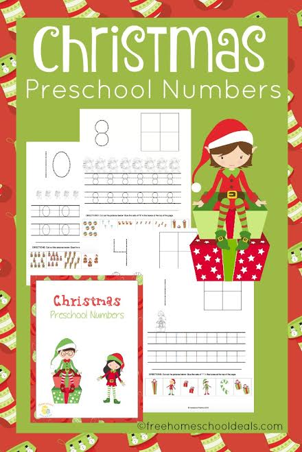 FREE CHRISTMAS NUMBERS WORKSHEETS (Instant Download)
