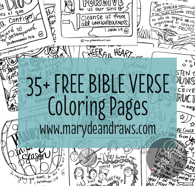 Free Bible Verse Coloring Pages (35+ Pages!)