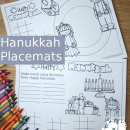 Free Hanukkah Placemats