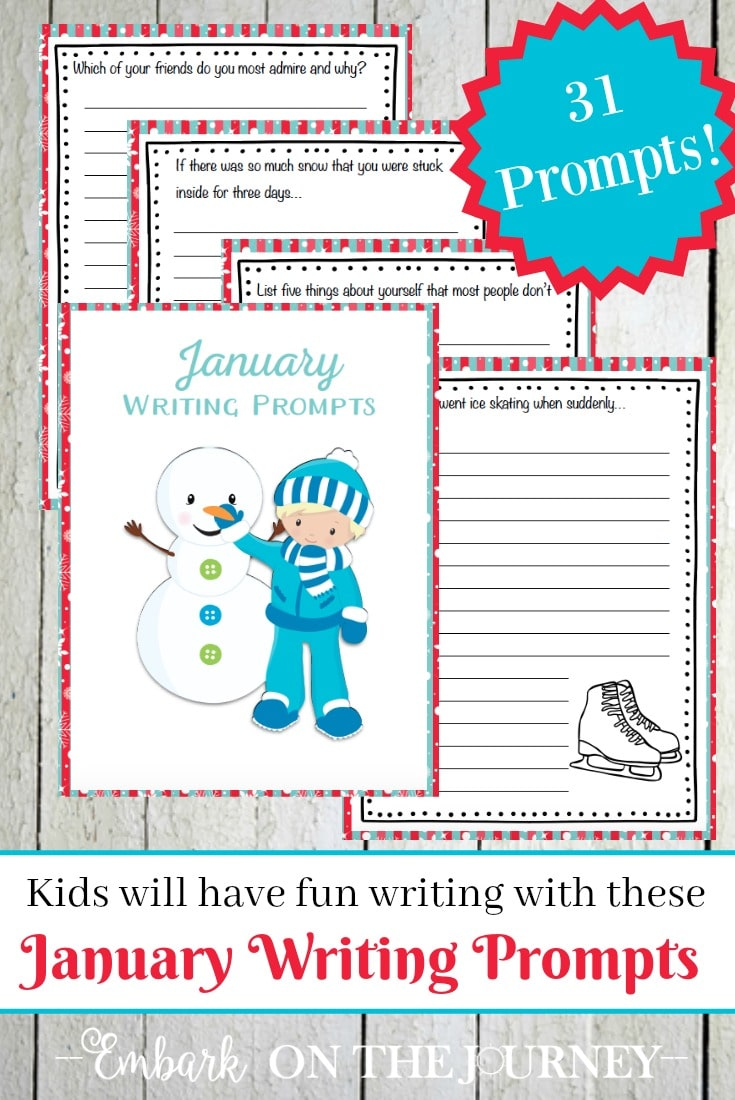 Free January Writing Prompts
