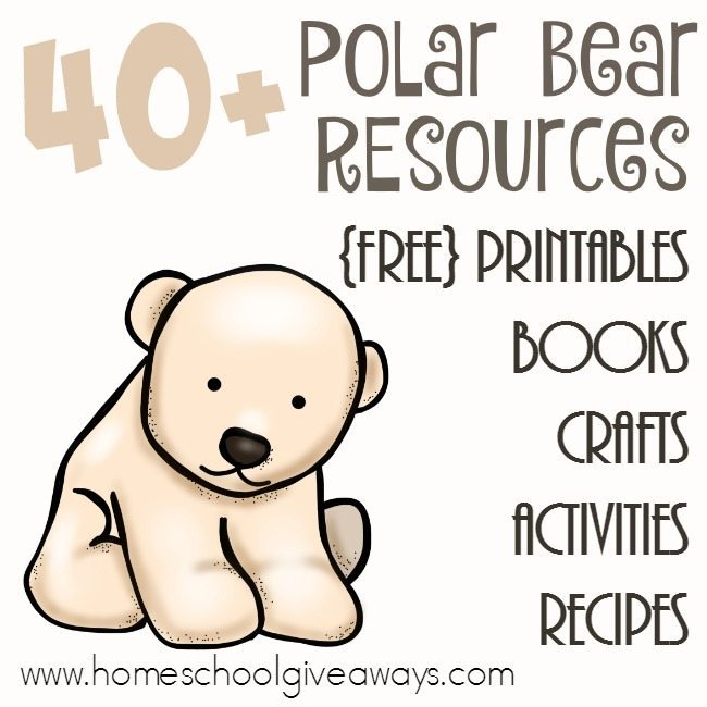 free polar bear printables resources. Black Bedroom Furniture Sets. Home Design Ideas