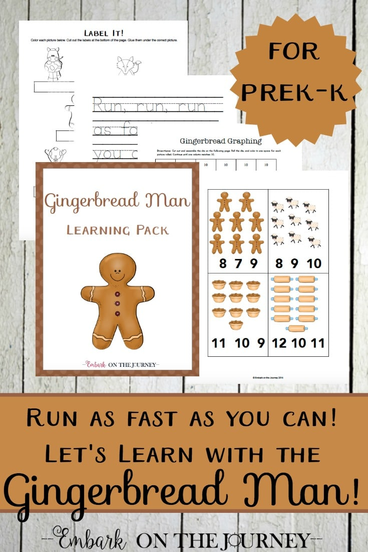 Free Gingerbread Unit Study & PreK-K Learning Pack (30 Pages!)