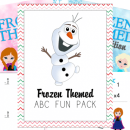 Free Frozen Themed Alphabet & Math Printables (40+ Pages!)