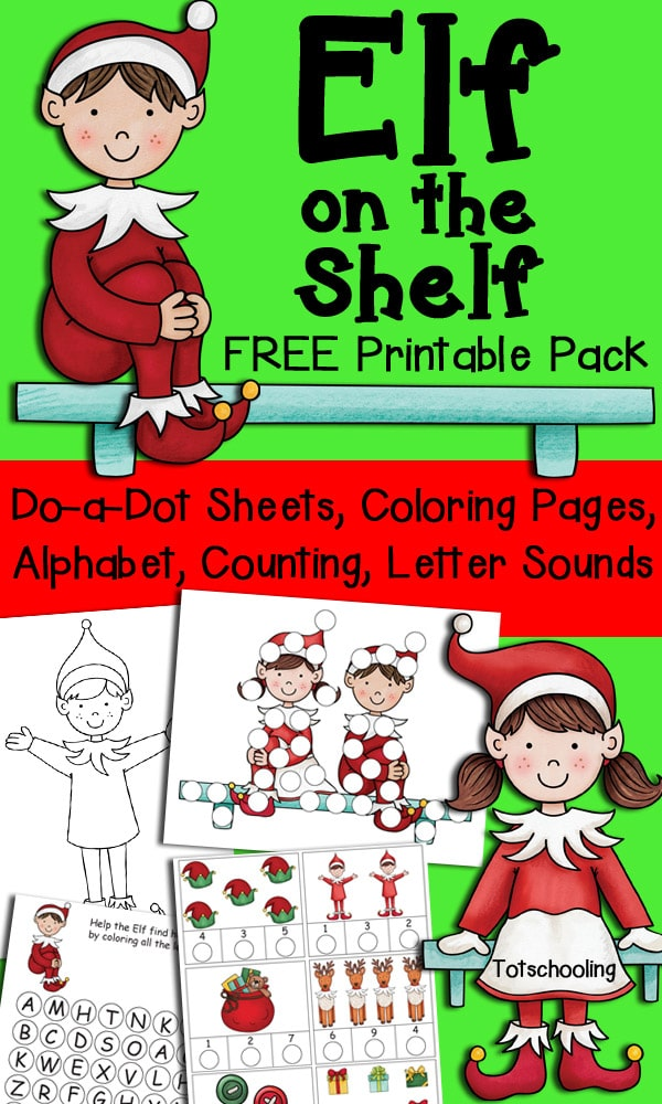 This is a photo of Selective Elf On The Shelf Printable Coloring Pages