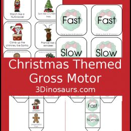 Free Christmas Themed Gross Motor Dice Game