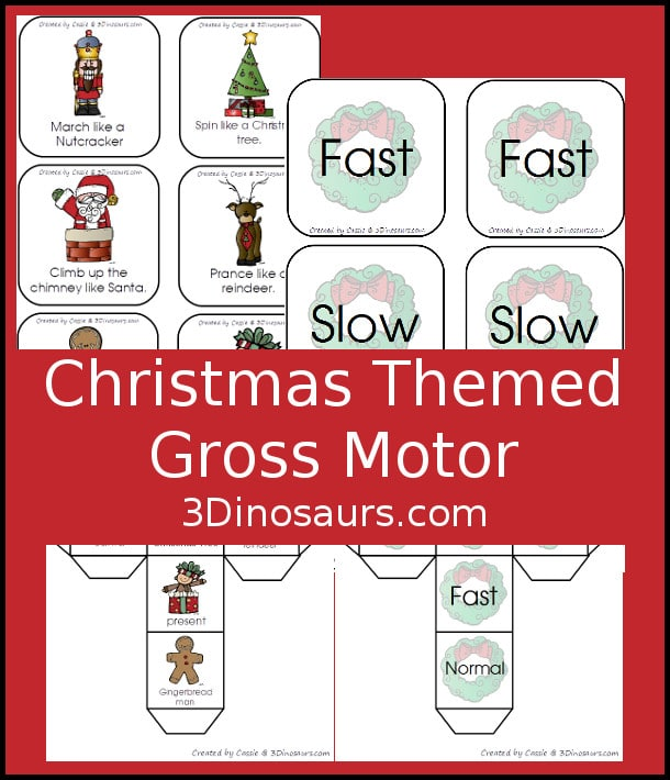 Free Christmas Themed Gross Motor Dice Game