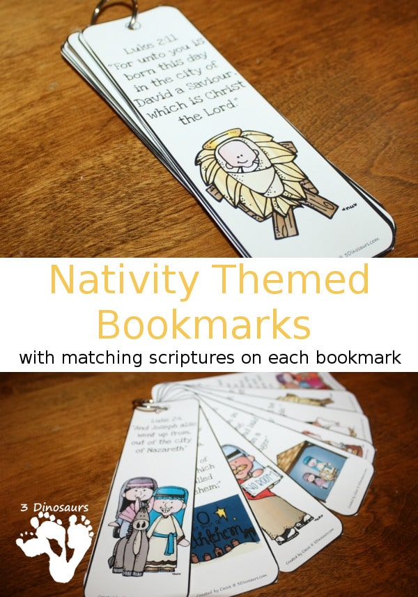 Free Nativity Themed Bookmarks with Scriptures
