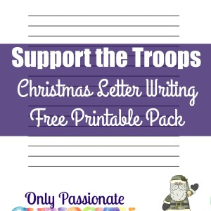 Free Support the Troops Letter Writing Pack