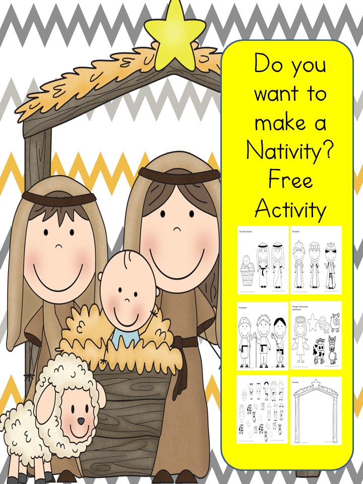 Free Build a Nativity Printables