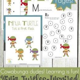 Free Ninja Turtles Printable Pack for Preschoolers