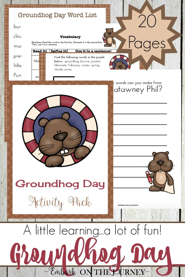 Free Groundhogs Day Printables & Hands-on Fun (20 Pages)