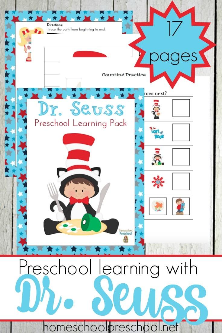 Free Dr. Seuss Preschool Printables
