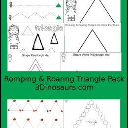 Free Romping & Roaring Triangle Pack