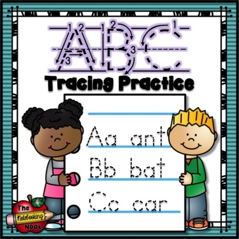 Free ABC Tracing Practice Worksheets