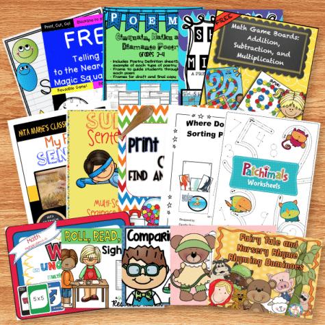 BIG Freebie Learning Pack for PreK-2 Graders