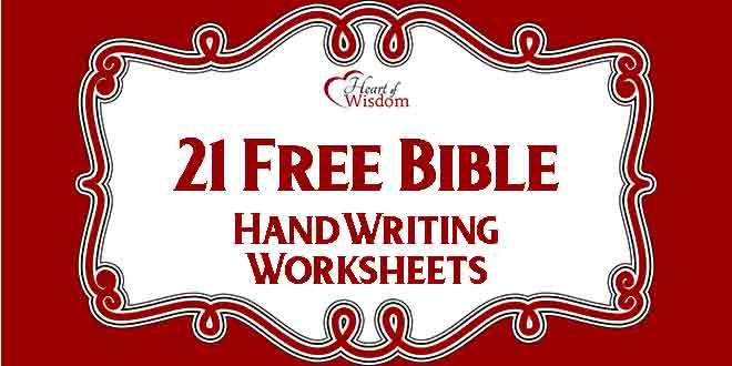 Free Bible Handwriting Worksheets