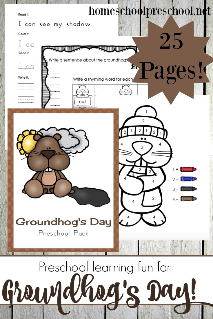 Free Groundhog Day Preschool Printables