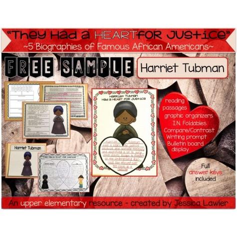 Free Harriet Tubman Mini-Unit Study
