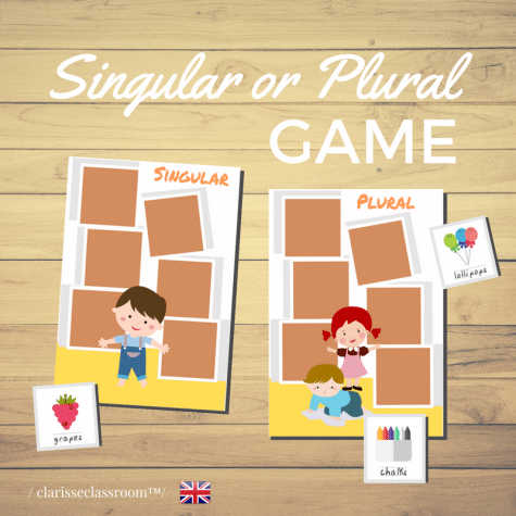 Free Singular and Plural Nouns Game