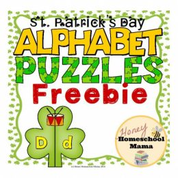 Free St. Patrick's Day Alphabet Puzzles