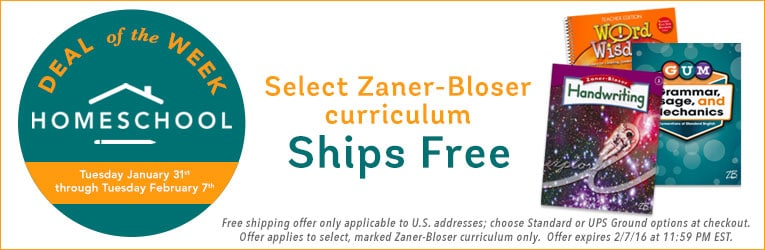 Zaner-Bloser Curriculum Sale - Up to 74% Off + Free Shipping!