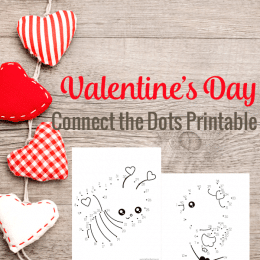 Free Valentines Connect-the-Dot Printables