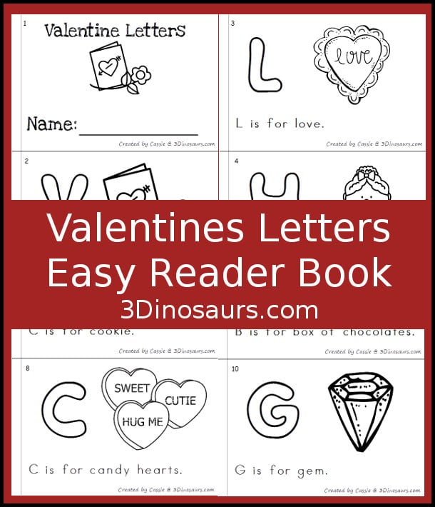 Free ABC Themed Valentine Easy Reader Book